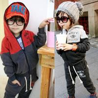 New fashion baby boys girls clothing set spring autumn  children clothing baby kids casual fleece set  kids sport coat pants