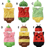 2014 Free shipping baby's Clothing Set cute baby romper and hat
