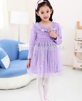 110-150CM,2014 girls embroidery  floral dress ,GD-CYH08