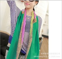 imitate silk G pring bright colorful scarf 2014 autumn winter women fashion scarves brand new design free shipping scarf