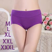 6xPCS Women Fashion Sexy Cotton Bamboo Fiber Ladies Shorts Briefs Pants Underwear Panties Women M L XL XXL XXXL  Free Shipping