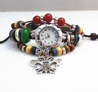 NEW 2014 Infinity Watch Alloy Bracelet Fashion Butterfly Trendy Bead Bracelets Charm Watch Girlsfriends Leather Hand Wear