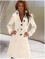 After the 2014 spring new open cut Europe multicolor cashmere wool coat Slim waist