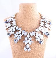 New 2014 fashion Za bib collar necklace chunky luxury crystal pendant choker Necklace statement necklace for women wholesale