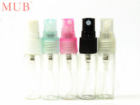 10pcs/lot 3ml Glass Perfume Bottles With Spray Cosmetic Jar Perfume Refill Sample Spray Bottles