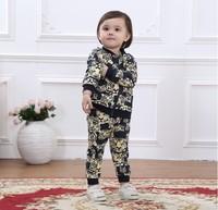 Wholesale Tiger Kids Clothing Sets 4pcs/lot Autumn Baby Boys Girls Clothes Set Children's Winter Clothing Sets