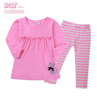 New children's clothing female baby models fall out clothes 0-1-2 year old baby long-sleeved pants suit