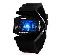 Free shipping SKMEI Unisex Sports Digital Backlight LED Wrist Watch w Rubber Band & Alarm & Calendar & Stopwatch for Children