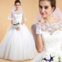 Vestidos De Novia Top Fashion Princess wedding dress Strapless One Word With Shoulder Neat, Wedding Dress Dresses Ems desigual