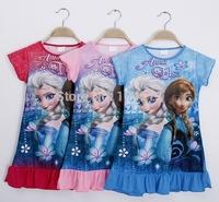 New Arrival kids child baby girls dress children clothing cartoon Frozen Anna & Elsa dresses Fedex DHL Free shipping  ,60pcs/lot