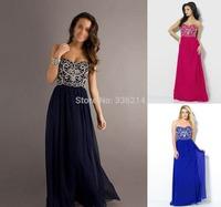 2014 New Long Formal A Line Bridesmaid Dresses Party Dress Gown Wedding Prom Dresses vestido de festa Stock Size 6-16