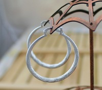 E292 wholesale circle women lady girl round 925 silver cute pretty earrings high quality fashion classic jewelry antiallergic