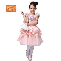 2014 New Frozen Girl Elsa & Anna Princess children dress girls Crown Princess dresses 31447