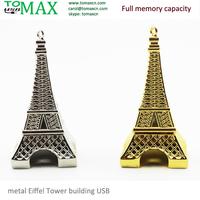 USB Pendrive metal Eiffel Tower building USB  Novel USB stick Full memory Genuine 2G 4G 8G 16G 32G Flash memory