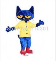 2014 Christmas Pete the Cat Cartoon Mascot Costume Halloween Fursuit Fancy Dress Mascot Costume