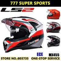 100% Authentic Controal Dual Lens Motocross Helmet Ls2 MX455  Off-Road Helmets Adjustable Airbag Dirt Bike Capacete Casco Parts