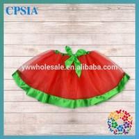 New arrival red with green snowmen kids girl tutu skirts fashion children petti skirt clothes 48PCS