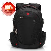 Swiss Gear Black wearproof high-capacity Travel business Laptop Sponge straps Backpack sa-8118