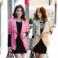 6275 2014 autumn fashion double layer collar large lapel casual small suit jacket