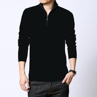 2014 autumn outfit zipper collar men leisure splicing long-sleeved sweater knitting cardigan joker cotton coat male