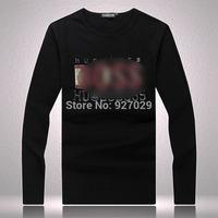 2014 Brand New Fashion Mens Flag Tees T Shirts 100% Cotton Casual Long Sleeve T Shirts High Quality Slim Fit For Men's T Shirt