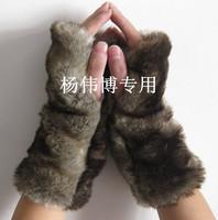 BIG DISCOUNT! fingerless woolen fur gloves winter mittens fashion birthday gift