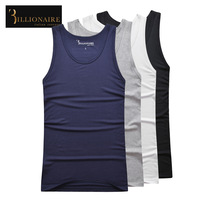 Billionaire italian couture male vest underwear 2014 100% elastic cotton t