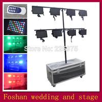 Free shipping 8pcs/Lot,led par 64 can lamp,led dmx stage lights,KTV dj led light