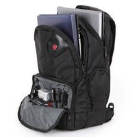 "Swiss Gear 16"" Black wearproof high-capacity with handle Travel business Laptop Sponge straps Backpack"