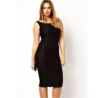 New European Fashion Women Sexy Black Autumn Winter Long  Knee Length Bodycon Party Evening Black Lace Dress