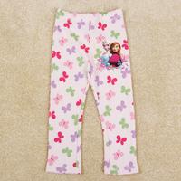 Retail Free shipping Nova Brand new 2014 Frozen Elsa and Anna girls leggings long pants trousers kid loose straight pants G5550