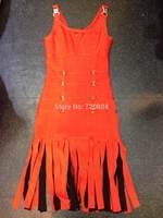 2014 New arrival Women's beige SEQUINED tassel black orange  Bandage Dress HL Evening Dresses dropship and wholesale