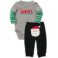 New 2014 baby Christmas clothing sets Christmas Gifts Baby rompers One-piece Costumes kids long sleeve spring autumn