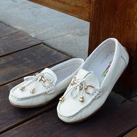 Spring and autumn children  genuine leather shoes child Moccasins  princess  school shoes