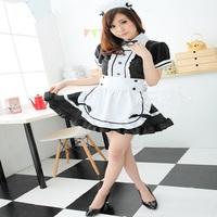 Free Shipping Akihabara Classic Black and White Maid Cosplay Women's Maid Uniform Costume