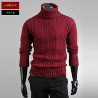 Winter turtleneck sweater male slim thickening male polo-necked collar sweater pullover
