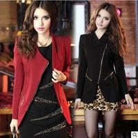 6262 2014 autumn fashion women's medium-long slim blazer outerwear blazer