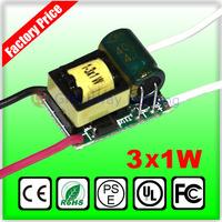 3W LED Driver Power Supply Transformer 85V-265V For MR16 E27 E14 GU10 B22 Light Bulb
