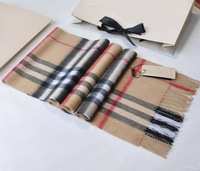 cashmere scarf Man and women's designer big plaid scarf  B-000