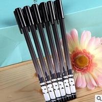 Beauty 12pcs/lot Black Refill Totoro Gel Ink Pen Mix Styles Cartoon Pens Stationery Office/School Supplies #GP067