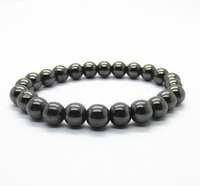 Magnetic bracelet fashion hot sales 6MM semi precious stone round beads stretch jewelry bangle men girl women free shipping