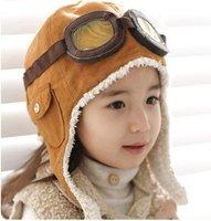 2014 Winter baby earflap,Pilot cap, children hats boys, flight caps, Free Shipping