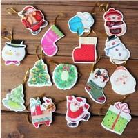 Free shipping hot selling 216pcs/lot new design Europe fashion greeting card Christmas tree beautiful cards