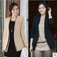 6276 2014 autumn blazer outerwear paillette slim blazer