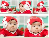 2014 hotsell 5 colors Cartoon rabbit Cotton cap infant kids hats children hat