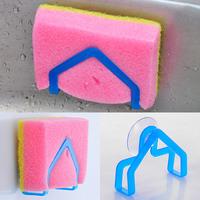 (Min order is $10) Wash cloth rack suction cup sponge holder clip dishclout storage rack e020