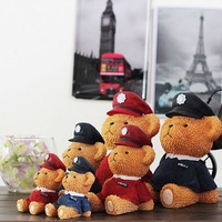 zakka groceries British style resin ornaments creative home accessories resin Winnie small objects bear 6pcs/set