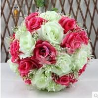 20cm quality rose ball dried flowers artificial flower silk flower plastic flower wedding bouquet home decoration A57