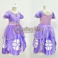 Free Shipping Sofia The First Princess Dress for Kids/Girls Sofia Kids Cosplay Costume