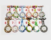 10pcs New fob pocket watch silicone robber nurse doctor watches cute patterns best children watches